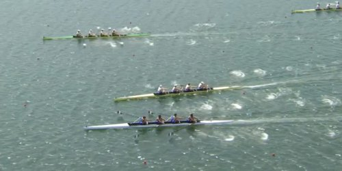 A heavily-favored Olympic rowing team almost crashed, failed to win gold, then attacked former winners in a chaotic race