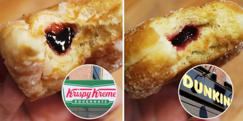 I compared the same breakfast from Dunkin' and Krispy Kreme and they were surprisingly different