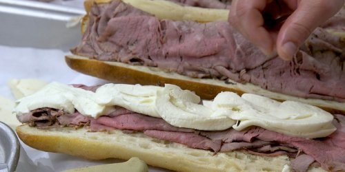 Hoboken, New Jersey, is obsessed with Fiore's roast beef and mutz sandwich