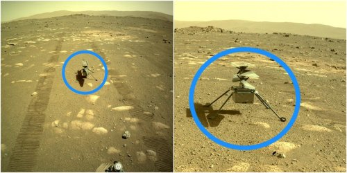 NASA's Mars helicopter survived its first night alone on the red planet after the Perseverance rover set it free