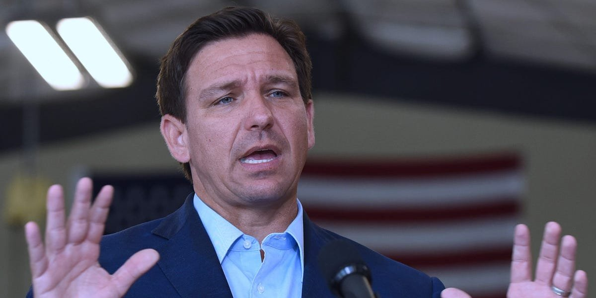 """Florida Gov. Ron DeSantis is selling """"Don't Fauci my Florida"""" merch as the state reports some of the highest number of COVID cases in the country"""