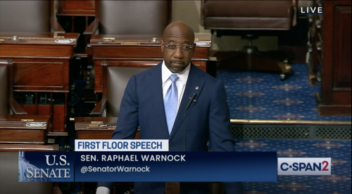 'This is Jim Crow in new clothes': Sen. Raphael Warnock delivers a forceful defense of voting rights, excoriates GOP-led voting restrictions
