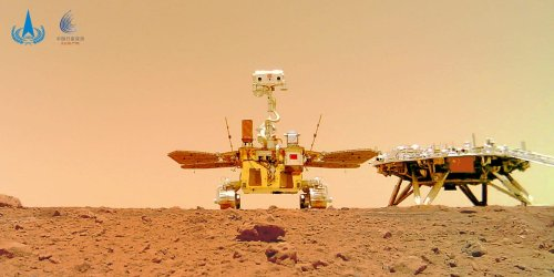 Photos show China's rover on the surface of Mars, ramping up its competition with NASA to explore the planet