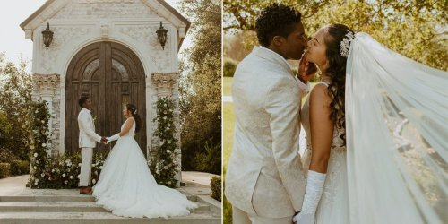 A wedding photographer had a 'Bridgerton'-inspired photo shoot complete with themed invitations and daring outfits