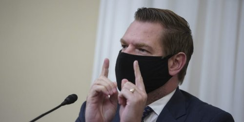 Rep. Eric Swalwell says Cruz and Gaetz are like WWE wrestlers and that behind closed doors Cruz told him he was doing a great job as an impeachment manager