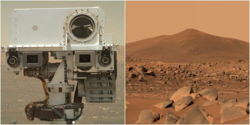 NASA's Perseverance rover has been on Mars 100 days. Its best photos show mysterious rocks, false rainbows, and helicopter flights.