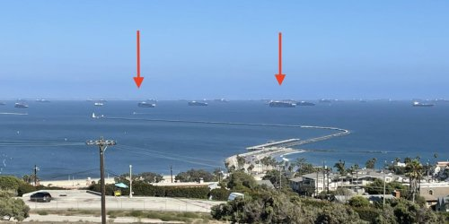 The largest port in the US hit a new ship-backlog record nearly every day last week, as 65 massive container boats float off the California coast