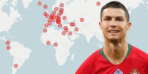 MAPPED: Cristiano Ronaldo is international soccer's greatest ever male goalscorer. Take a look at every one of his 111 record-breaking goals.