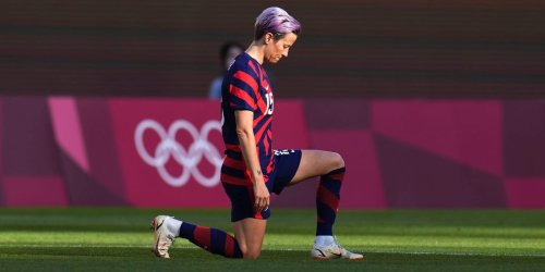 All but one of the US women's soccer starters kneeled to protest racism ahead of the team's Olympic bronze-medal match