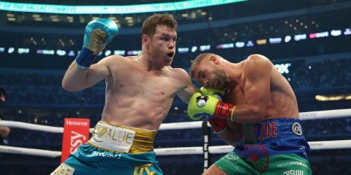 Boxing's No.1 fighter Saul Alvarez sent Billy Joe Saunders to hospital with a suspected broken orbital bone