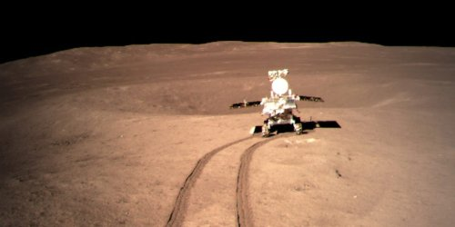 Photos show Chinese lunar rover making tracks on the far side of the moon as it starts its historic exploration mission