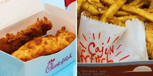 I ordered the same meal from Popeyes and Chick-fil-A, and I preferred the crispier chicken tenders