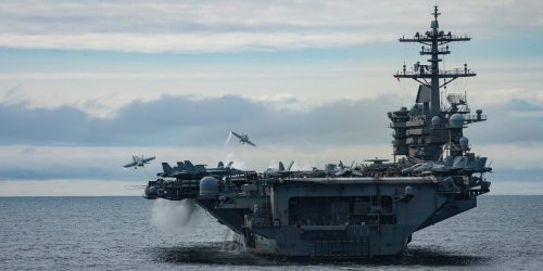 The Navy sent another carrier on a rare trip to the high north. Here's how sailors kept it going in harsh conditions around Alaska