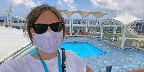 I went on a 2-night 'cruise to nowhere' from Singapore. Here's what it was like, from the mandatory COVID-19 test to carrying a tracking device everywhere.