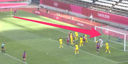 Megan Rapinoe scored a goal directly from a corner kick — a rare feat she's now pulled off twice at the Olympics