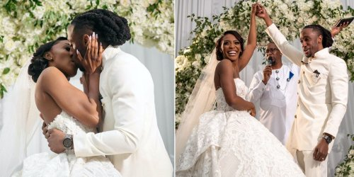 A couple who waited 3 years for their first kiss had an emotional wedding that honored their Nigerian roots