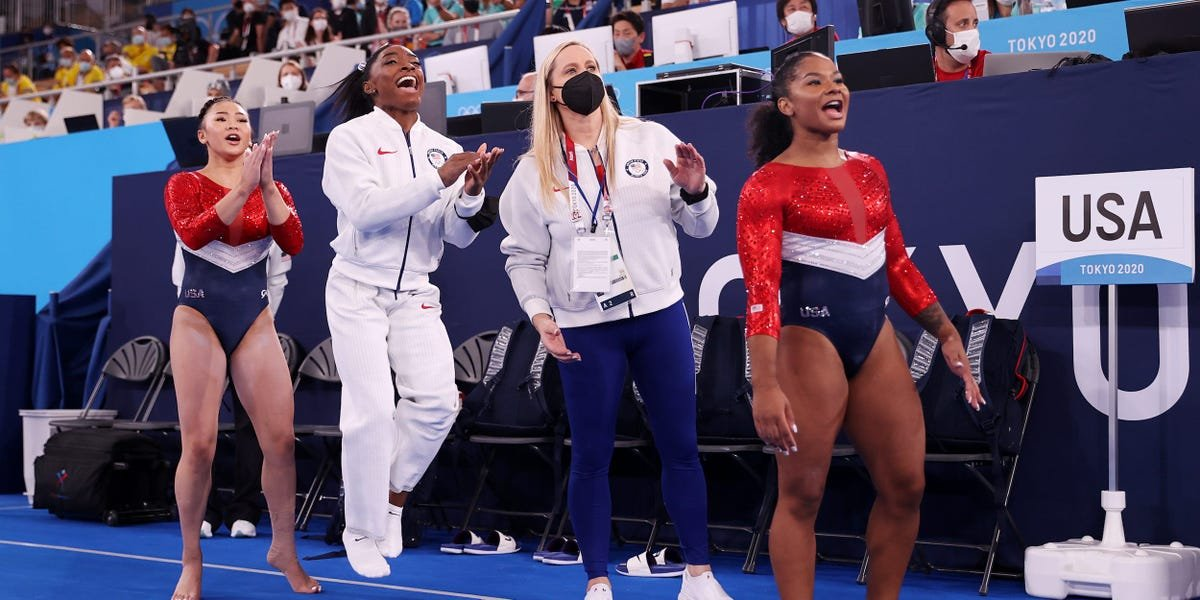 Simone Biles told her teammates 'you can do this without me and it will be just fine' after pulling out of the team final over mental health concerns