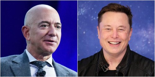 Elon Musk says he's sending Jeff Bezos a silver medal and a 'giant statue' of the number 2 after surpassing him again to become the world's richest person