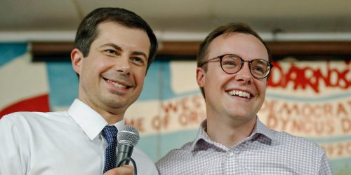 Pete and Chasten Buttigieg are celebrating their third anniversary after meeting on a dating app. Here's a timeline of their relationship.