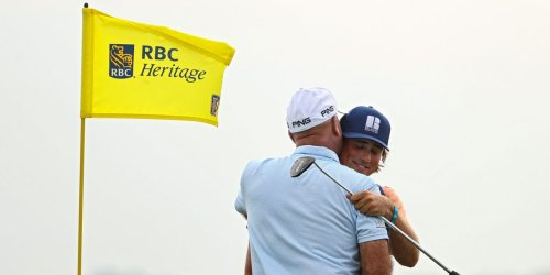 A 47-year-old American golfer has been on a blistering tear since convincing his son to be his caddie
