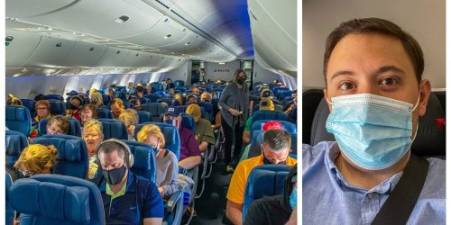 I flew Delta for the first time since it stopped blocking middle seats and found cracks showing in its mask enforcement— here's what it was like