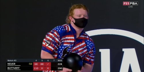 An American teenage bowler earned the nickname 'The Ginger Assassin' after he converted the rarest shot in the sport
