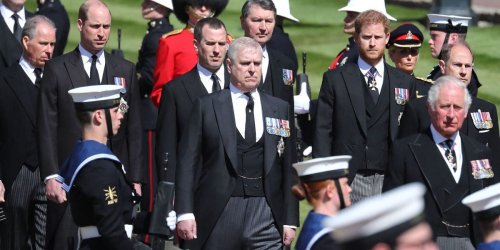 Prince Harry came face to face with Prince Andrew after being secretly recorded saying he is 'completely separate' from the alleged sex offender