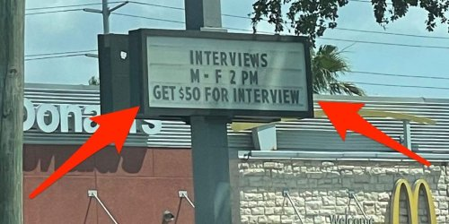 A Florida McDonald's is paying people $50 just to show up for a job interview, and it's still struggling to find applicants