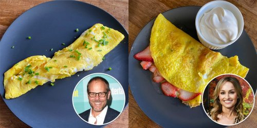 I made omelets using 6 celebrity chefs' recipes, and 2 of my favorites were made in the microwave