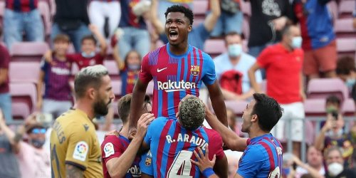 The teenager who inherited Lionel Messi's FC Barcelona shirt scored after 323 days out as the club got back to winning ways