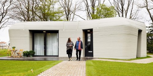 A couple just moved into a 3D printed concrete home for about $1,400 a month— see what it's like to live in