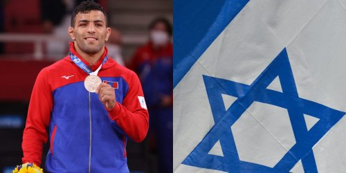 An Iranian athlete left his country after being told to lose on purpose, won silver at the Olympics for Mongolia, and then dedicated the medal to Israel
