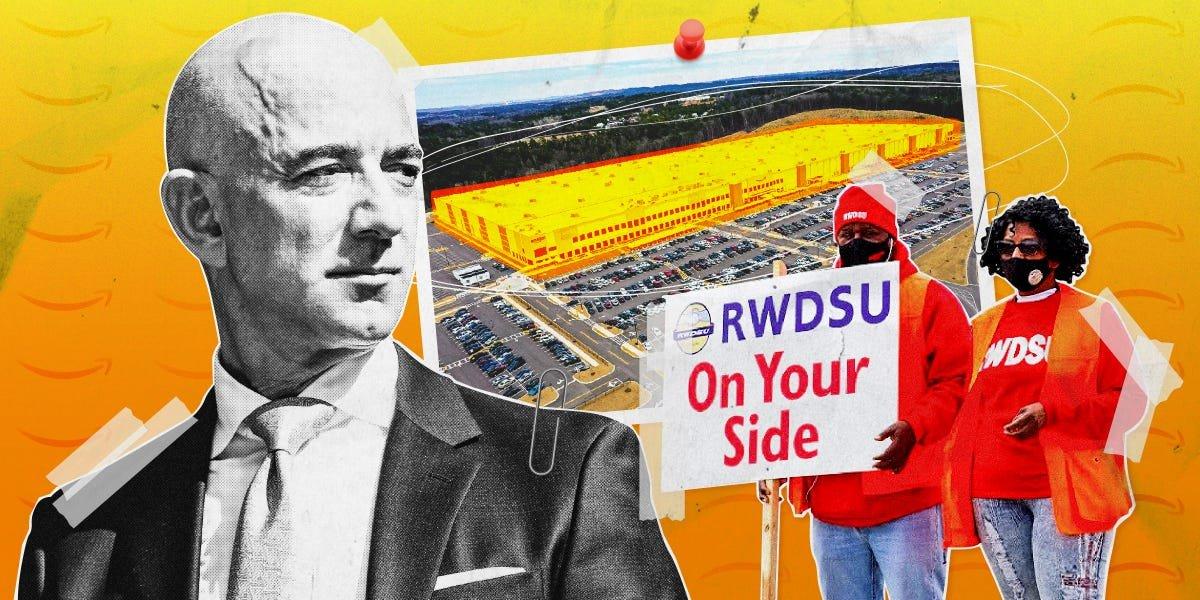 Amazon workers describe historic union vote in Alabama