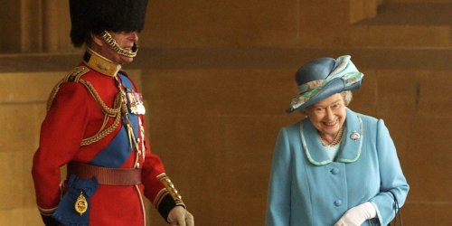 Queen Elizabeth was photographed giggling with Prince Philip in a rare candid moment in 2003 — here's what happened