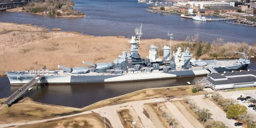 The battleship USS North Carolina is back in the water