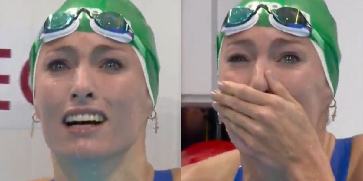 South African swimmer Tatjana Schoenmaker screamed in shock when she realized well after her race that she broke the world record