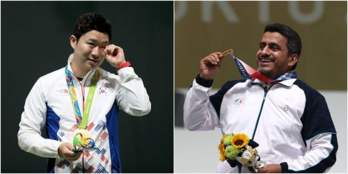A Korean shooter called a gold medal-winning rival a 'terrorist' after finding out he is a member of Iran's Revolutionary Guard