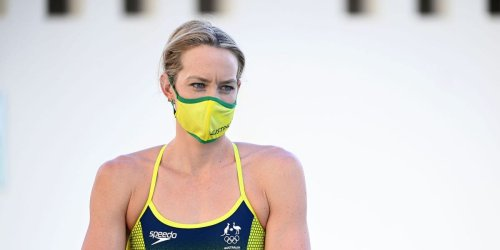 An Australian gold medal Olympic swimmer has been hospitalized with COVID-19