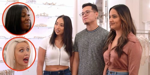 'Say Yes to the Dress' consultants find out they're helping a throuple find wedding gowns in a new clip