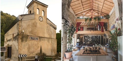An abandoned 16th-century Spanish church was transformed into a dream home with a 2-story loft and a bedroom in the bell tower