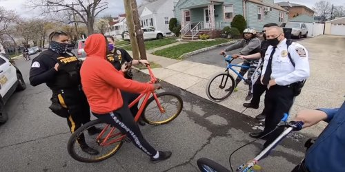 Video shows New Jersey police handcuffing a Black teen and seizing his bike over not having a bicycle license
