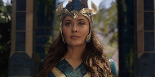 'Eternals' star Salma Hayek says she had 'problems with the script' and 'got into a serious fight' with director Chloé Zhao, but they found 'middle ground'