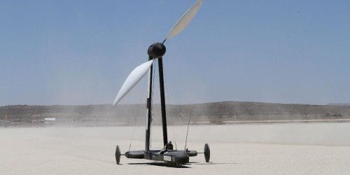 A YouTuber bet a physicist $10,000 that a wind-powered vehicle can travel twice as fast as the wind itself — and won