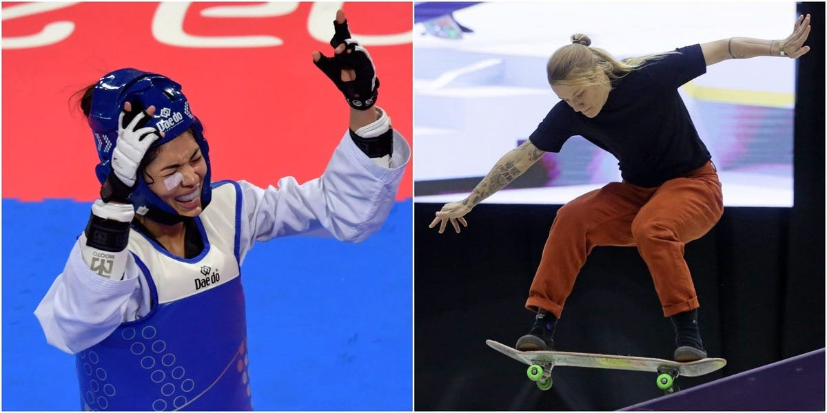 A pair of athletes have become the first to be ruled out of the Olympics with COVID after arriving in Japan
