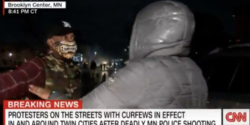 A CNN reporter was confronted by a protester while covering the Daunte Wright demonstrations in a dramatic on-air exchange