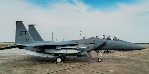 US Air Force loads up F-15E fighter jet with a lot of cruise missiles to see if it could be used like a bomber