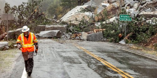 A 'bomb cyclone' hit California. Photos and videos show the mudslides, floods, and destruction left in its wake.