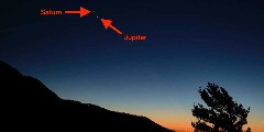 Discover jupiter in the sky