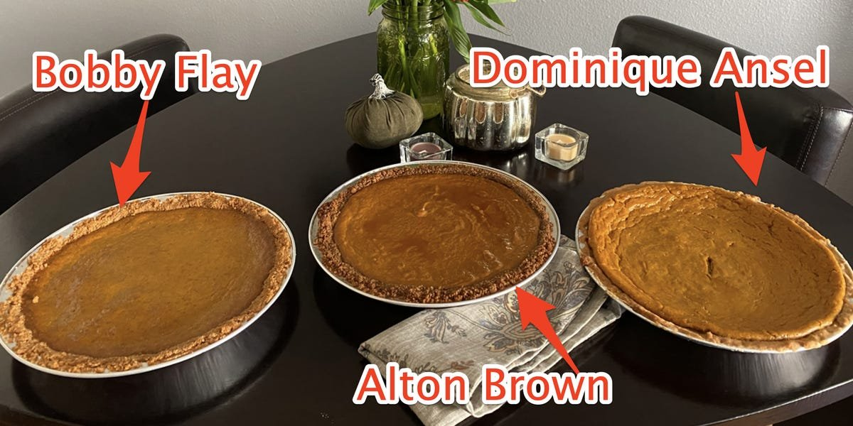 I made pumpkin pie using 3 celebrity-chef recipes, and the worst was from a baking legend