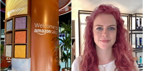 I went to Amazon's high-tech hair salon and virtually dyed my hair pink — then got the best haircut I've ever had